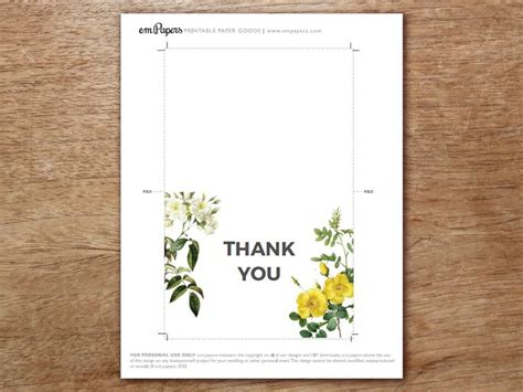 Thank You Card Template Free Pdf by Best 25 Thank You Card Template Ideas On Diy