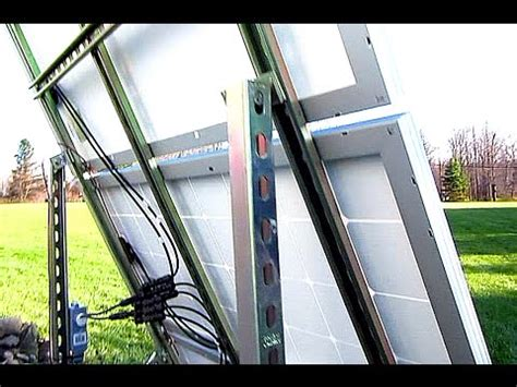 diy solar tracker mount diy solar panel system 300 watts grid ground mount
