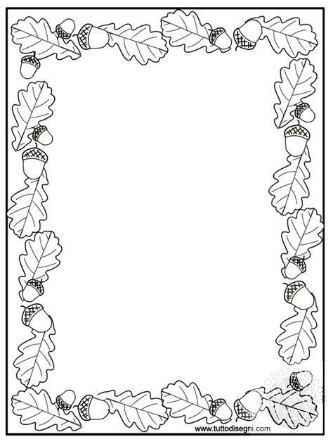 cornice autunno cornicetta autunno da colorare tuttodisegni