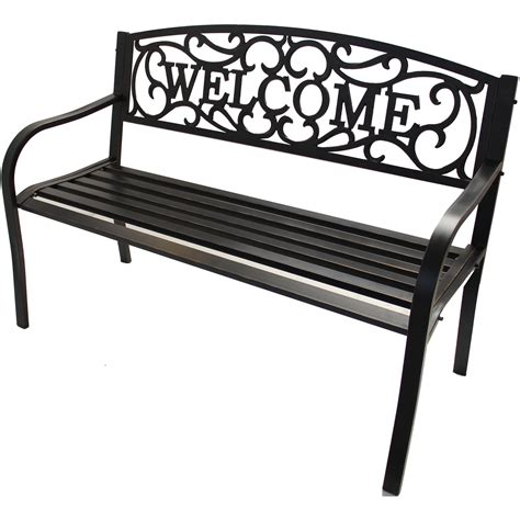 welcome bench garden sensation the gardening products source