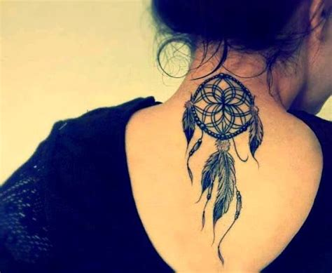 Dream Catcher Tattoo Back Of Neck | 55 best dreamcatcher tattoos
