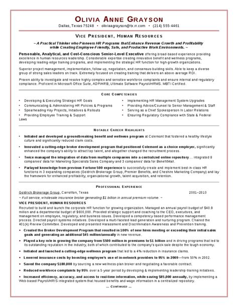 free hr executive resume sles hr payroll resume format hr payroll executive
