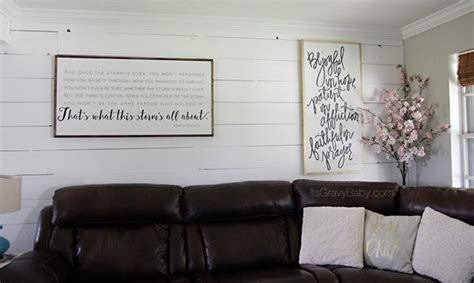 Shiplap Wall Living Room Living Room Renovation From House To Home It S Gravy