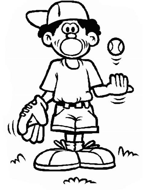 baseball boy coloring page baseball glove pictures cliparts co