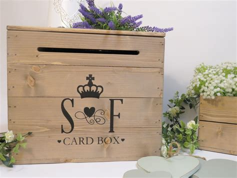 Wedding Box Uk by Personalised Rustic Wooden Wedding Card Post Box Vintage