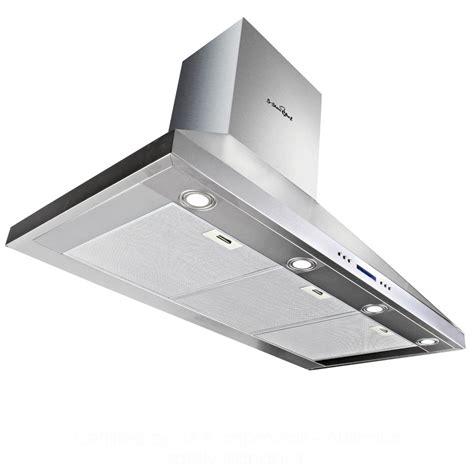 quietest range fan commercial rangehood stainless kitchen canopy bbq exhaust