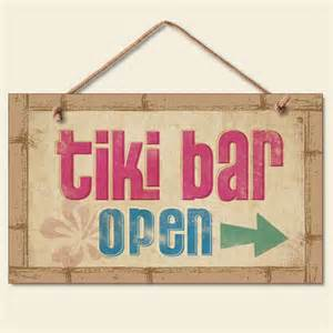 Bar Wall Decor by Buy New Tiki Bar Open Sign Tropical Wall Plaque Coastal