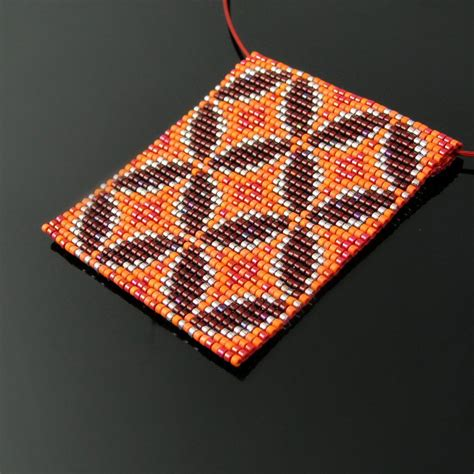 bead tile bead loomed tile pendant by catswire on deviantart