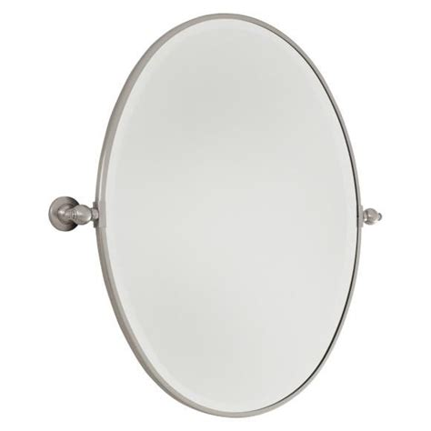 minka lavery 143 oval pivoting bathroom mirror atg stores brushed nickel oval bathroom mirror my web value