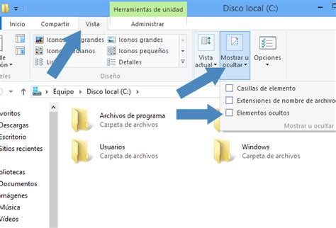 visualizar imagenes windows 10 windows 8 como mostrar y ocultar las carpetas y archivos