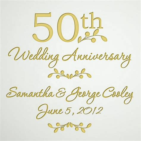 50th Wedding Anniversary by Etched Glass 50th Wedding Anniversary Plate