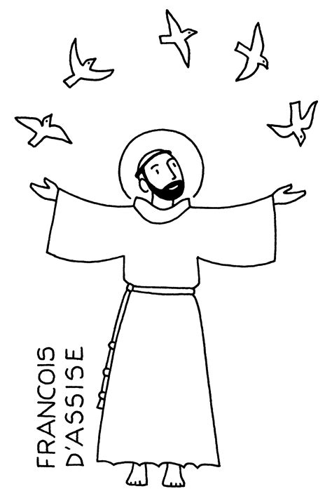 free coloring pages of st francis assisi