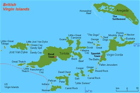 tortola map geography of the islands