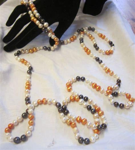 vorhänge 4 m lang lange zucht perlenkette mit den farben orange wei 223