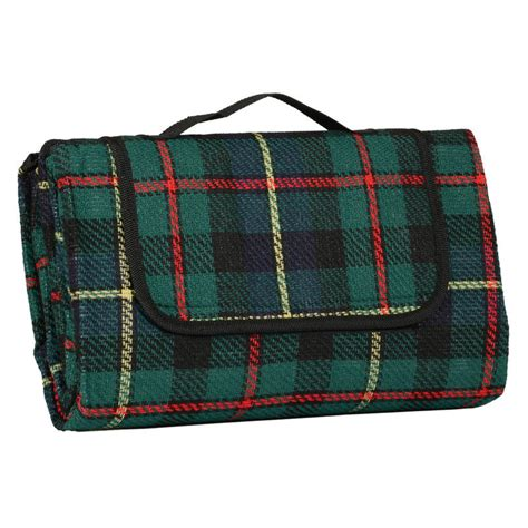 tartan picnic rug waterproof green tartan folding waterproof acrylic picnic blanket rug