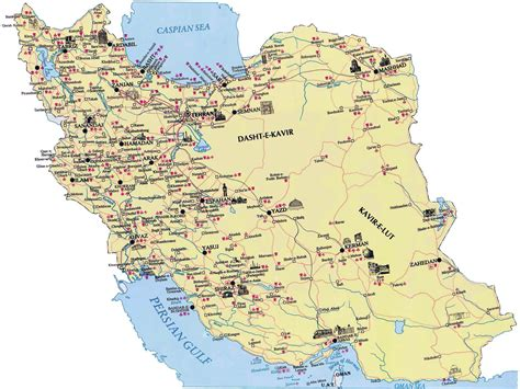 map or iran maps of iran detailed map of iran in tourist