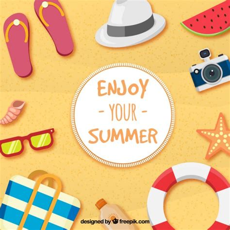 Enjoy Summer vector collection a selection of the best vectors