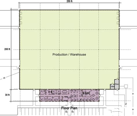 production floor plan build to suit portfolio created by angus associates