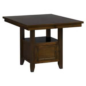 counter height craft table with storage taylor cherry counter height storage table by jofran 337