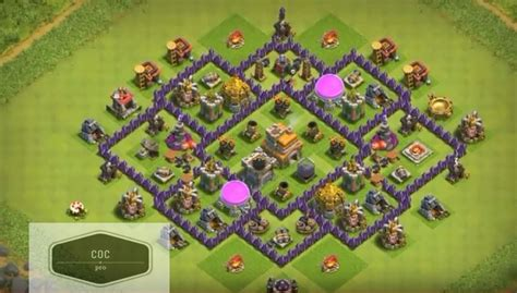 clash of clans layout strategy level 7 coc anti base town hall 7 hybrid th7 war farming