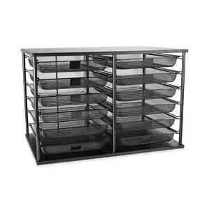 Mesh Desk Organizer Tray Rubbermaid File Organizer Tray Desk Mesh Drawer Storage Office Supplies Black Ebay