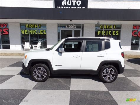 white jeep renegade 2016 alpine white jeep renegade limited 4x4 119481112