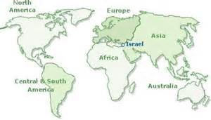 what continent is israel on questions and answers