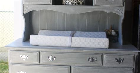 baby changing dresser with hutch vintage ethan allen dresser repurposed into weathered