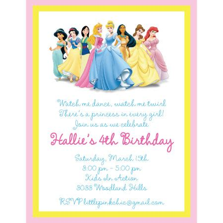 princess invitation templates disney princess birthday invitations gangcraft net