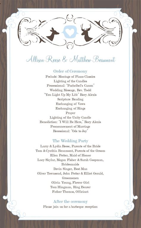 free wedding program templates wedding program templates free weddingclipart