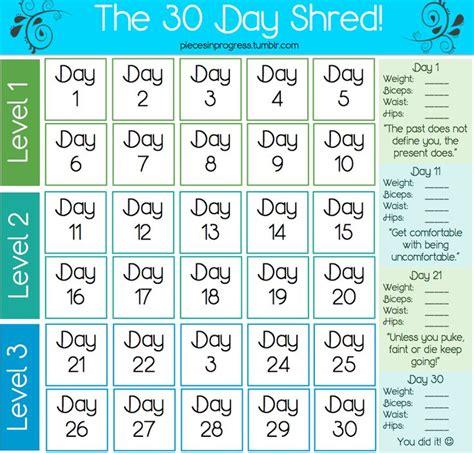 8 Week Detox by Jillian Workout Calendar Search