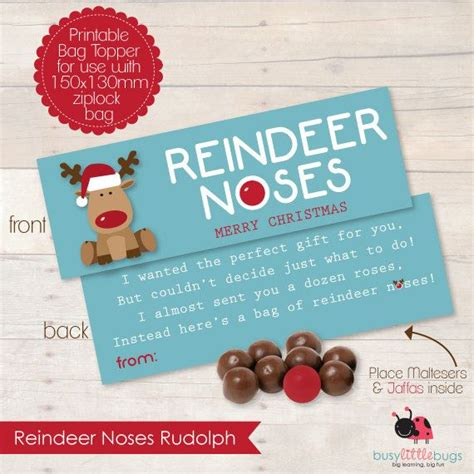 printable reindeer noses bag topper printable reindeer noses bag toppers memes