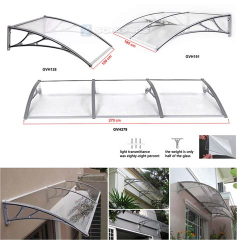 Back Awning Songmics Door Canopy Front And Back Awning Porch Shelter
