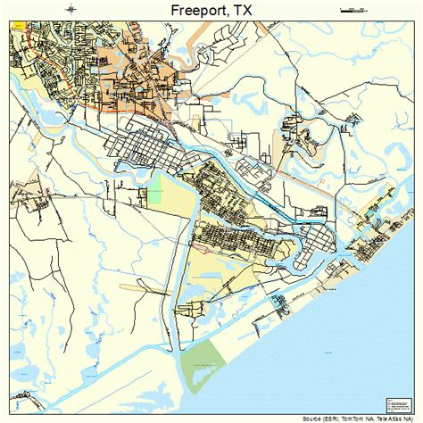 map freeport texas freeport texas map 4827420