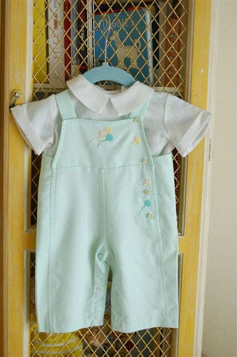 baby clothes from 1950 s mint green baby boy