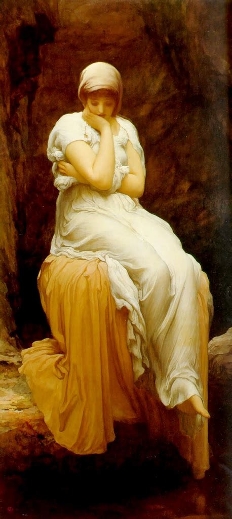The Siren Of Solitude frederic leighton the automat