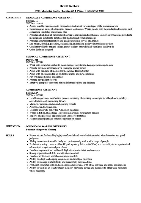 Admissions Assistant Sle Resume by Data Analyst Wales Exles Best Resume Templates