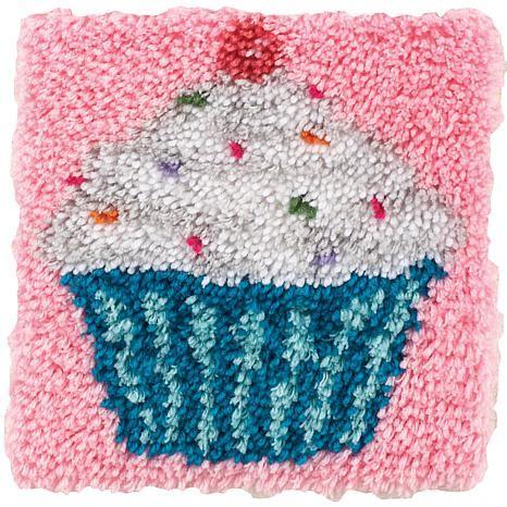 12x12 rug clearance wonderart 12 quot x 12 quot latch hook kit cupcake 7269586 hsn