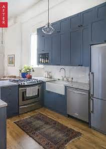 Kitchens With Blue Cabinets by 25 Best Ideas About Blue Cabinets On Navy