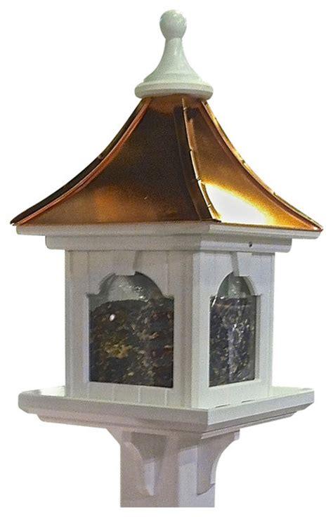 extra large post mount bird feeder  vinylcopper bright
