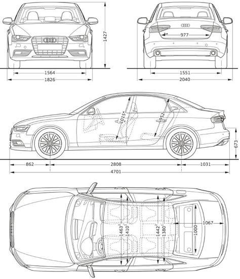 Audi A4 2002 Dimensions by 2012 Audi A4 Sedan Dimensions