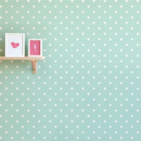 Poppy Wall Stickers polka dot print removable wallpaper for nursery