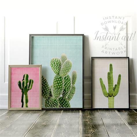 free printable modern wall art cactus print wall art prints printable art set modern art