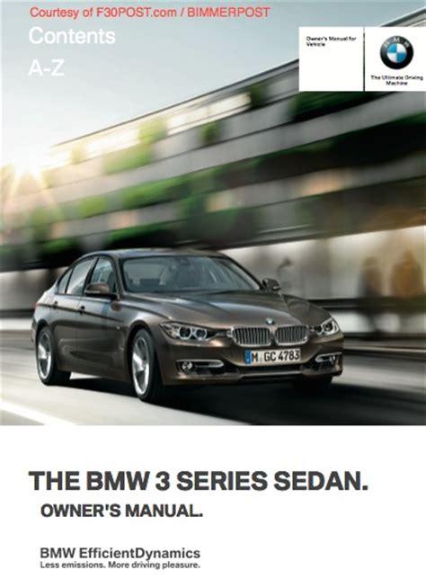 free download parts manuals 2006 bmw 3 series auto manual bmw f30 3 series owners manual for download pdf