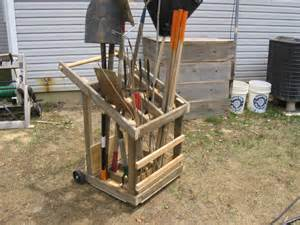 mike s bean patch mobile garden tool rack