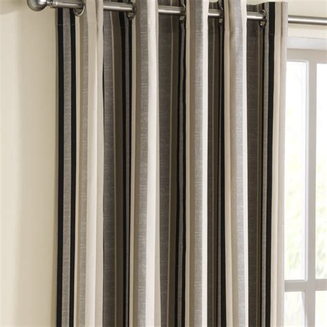 black cream striped curtains henley stripe eyelet curtains eyelet curtains curtains