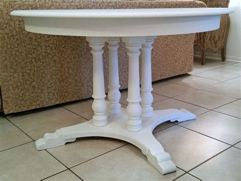 white shabby cottage chic antique pedestal solid wood 48 quot dining table romanticshabby for the