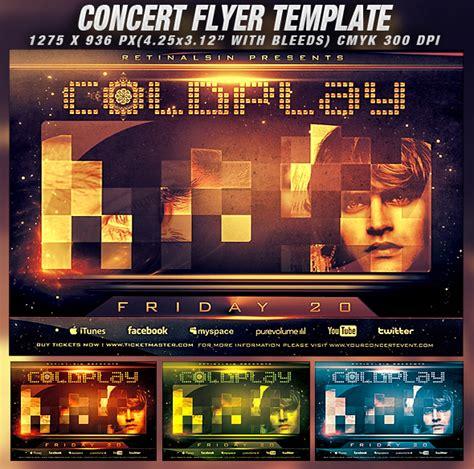 Psd Concert Flyer Template V 2 By Retinathemes On Deviantart Free Concert Flyer Template Psd