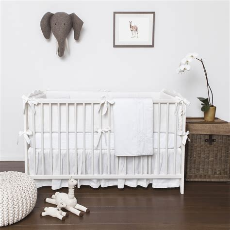 white nursery bedding sets white out project nursery