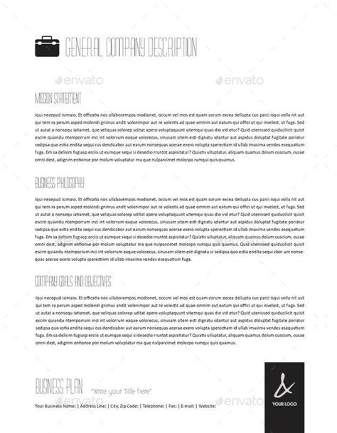 53 pages full business plan template u s letter by